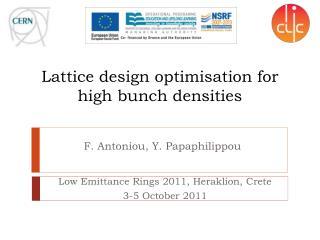 Lattice design optimisation for high bunch densities