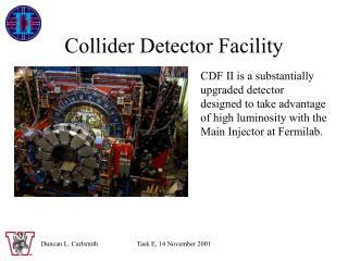 Collider Detector Facility