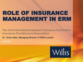ROLE OF INSURANCE MANAGEMENT IN ERM