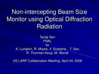 Non-intercepting Beam Size Monitor using Optical Diffraction Radiation