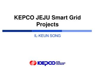 KEPCO JEJU Smart Grid Projects