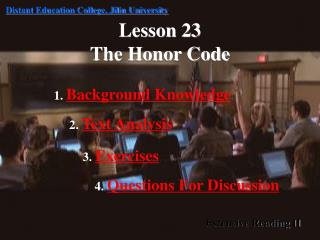 Lesson 23 The Honor Code