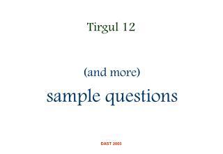 Tirgul 12