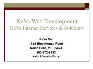 KeVa Web Development KeVa Internet Services & Solutions