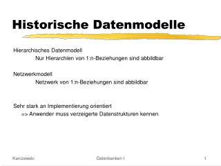 Historische Datenmodelle