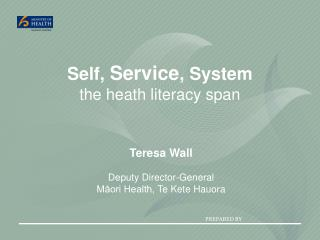Self ,  Service ,  System the  heath literacy span