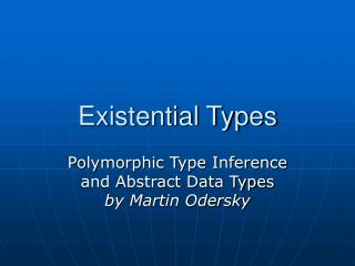 Existential Types