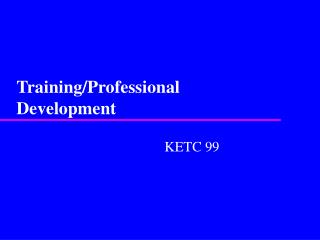 Training/Professional Development