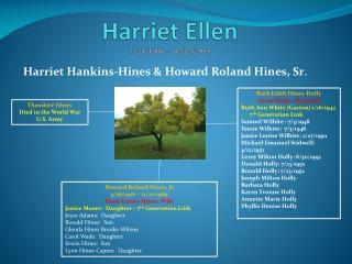 Harriet Ellen 7/13/1906 – 10/30/1989
