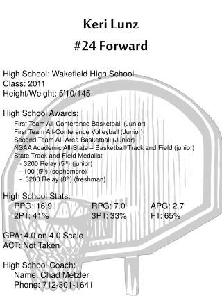 Keri Lunz #24 Forward