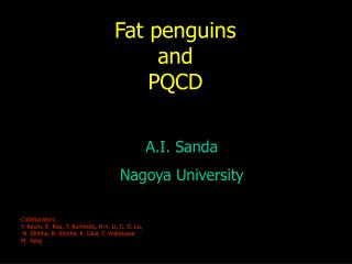 Fat penguins and PQCD