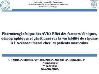 Université Hassan II – Casablanca  Faculté de médecine et de Pharmacie-Casablanca