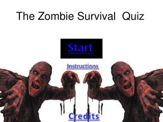 The Zombie Survival Quiz