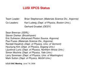 LUSI XPCS Status