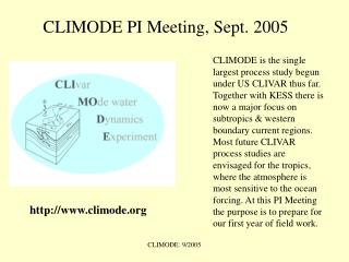 CLIMODE PI Meeting, Sept. 2005