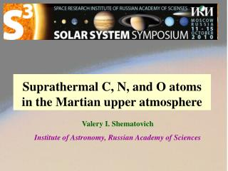 Suprathermal C, N, and O atoms  in the Martian upper atmosphere