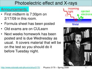 Photoelectric effect and X-rays