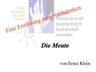 von Ernst Klein