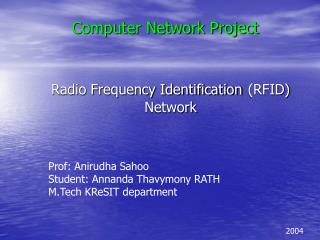 Radio Frequency Identification RFID Network