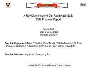 X-Ray Diamond Anvil Cell Facility at NSLS:  2008 Progress Report