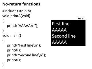 No-return functions