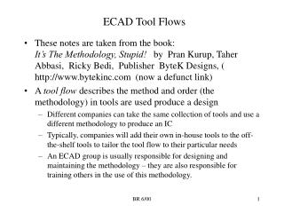 ECAD Tool Flows