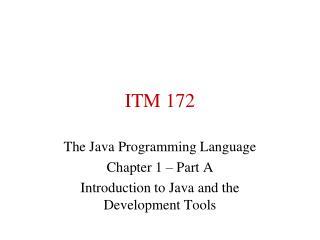 ITM 172