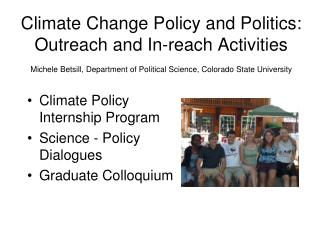 Climate Policy  Internship Program Science - Policy  Dialogues Graduate Colloquium
