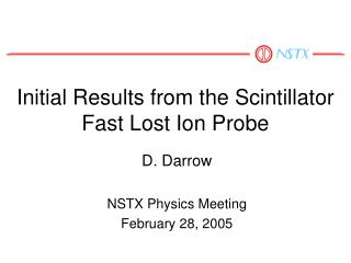 Initial Results from the Scintillator Fast Lost Ion Probe