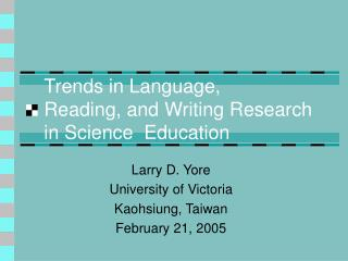 Trends in Language, Reading, and Writing Research in Science  Education