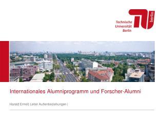 Internationales  Alumniprogramm  und  Forscher-Alumni