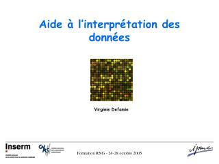 Aide à l'interprétation des données