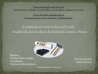 Comunicazione interculturale. Analisi di alcuni diari di studenti cinesi a Pavia