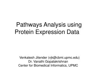 Pathways Analysis using Protein Expression Data