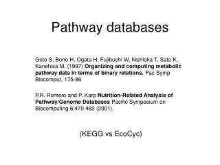 Pathway databases