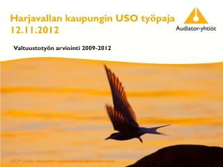 Harjavallan kaupungin USO  työpaja  12.11.2012