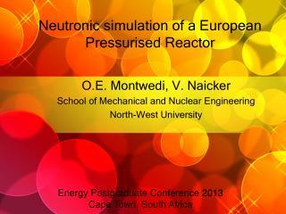 Neutronic simulation of a European Pressurised Reactor