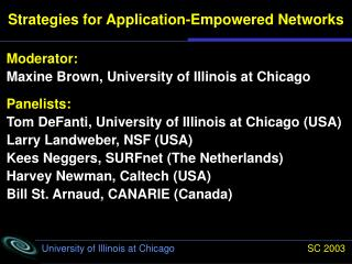 Strategies for Application-Empowered Networks