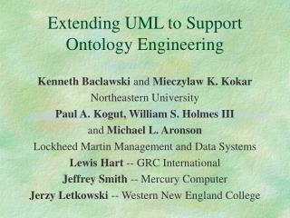 Extending UML to Support Ontology Engineering