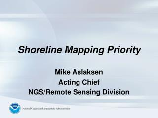 Shoreline Mapping Priority