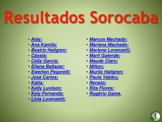 Resultados Sorocaba
