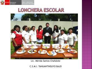 LONCHERA ESCOLAR