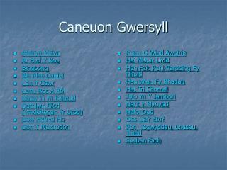Caneuon Gwersyll
