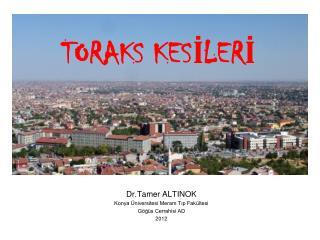 Dr.Tamer ALTINOK Konya Üniversitesi Meram Tıp Fakültesi Göğüs Cerrahisi AD 2012