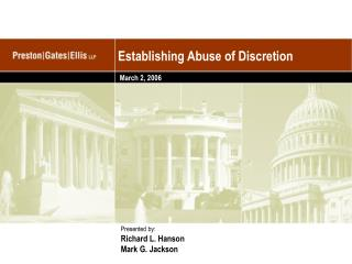Establishing Abuse of Discretion