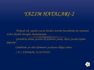 YAZIM HATALARI-2