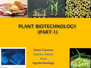 PLANT Biotechnology (Part-1)