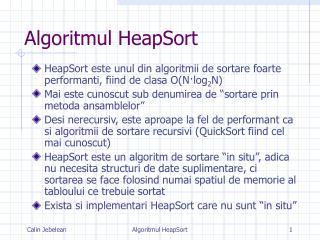 Algoritmul HeapSort