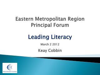 Eastern Metropolitan Region Principal Forum