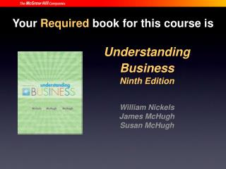Understanding Business Ninth Edition William Nickels James McHugh Susan McHugh